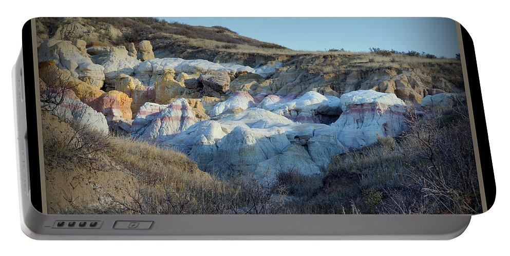 Calhan Paint Mines Landscape Portable Battery Charger featuring the photograph Calhan Paint Mines Landscape by Ernie Echols