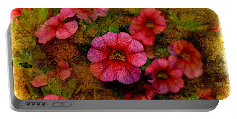 Nature Portable Battery Charger featuring the photograph Calibrachoa Photoart I by Debbie Portwood