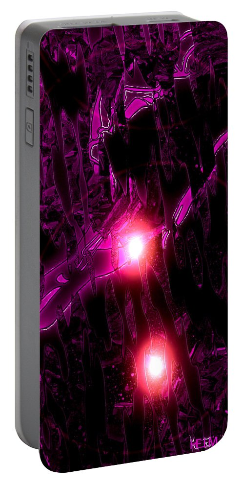 Lovers Paintings Portable Battery Charger featuring the digital art Caliente Legacy by Mayhem Mediums