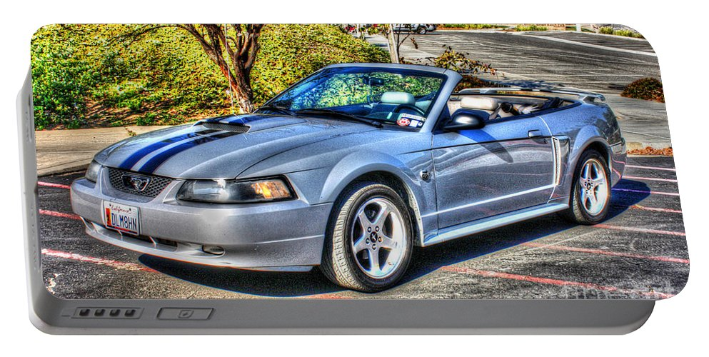 Ford Mustang Gt Portable Battery Charger featuring the photograph California Dreaming by Tommy Anderson