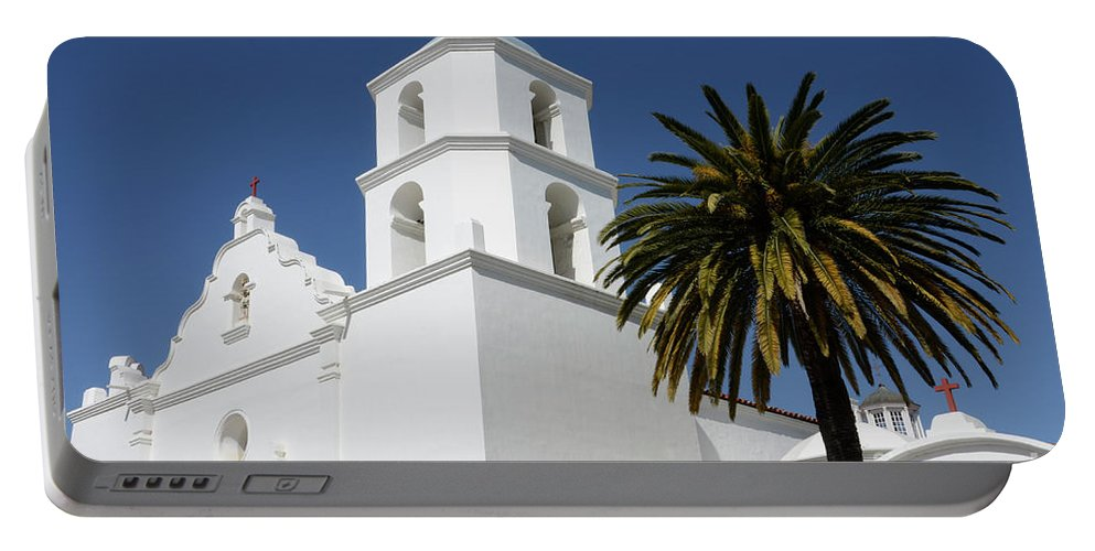 Architecture Portable Battery Charger featuring the photograph California Mission 2 by Bob Christopher