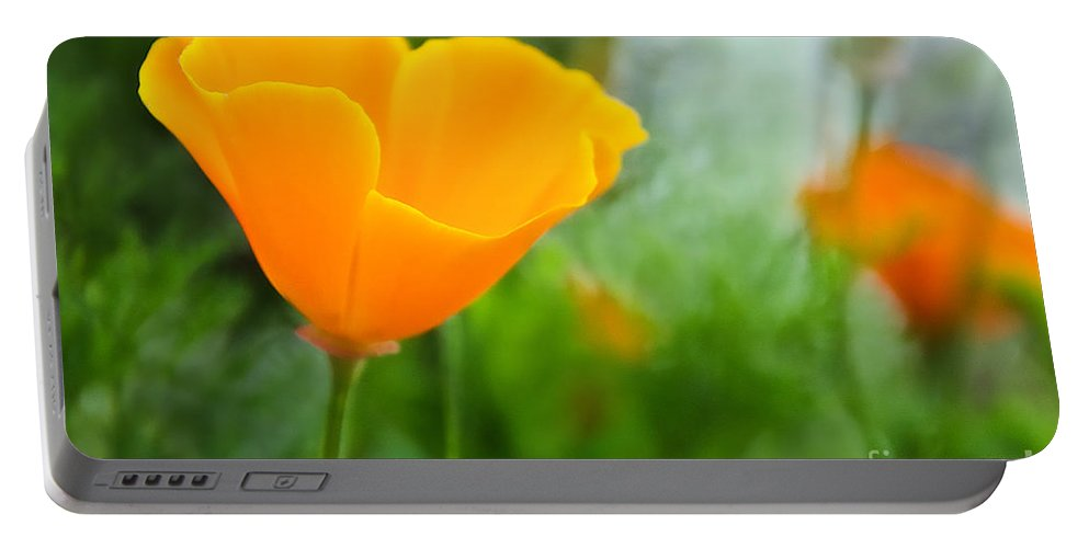 Poppies Portable Battery Charger featuring the photograph California Poppies by Susie Peek