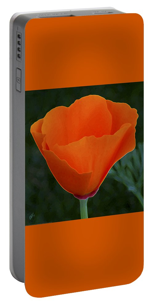 Wild Poppy Portable Battery Charger featuring the photograph California Poppy Spectacular by Ben and Raisa Gertsberg