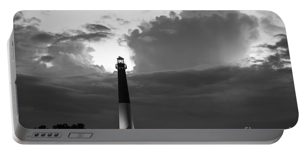 Barnegat Lighthouse Portable Battery Charger featuring the photograph Calm Before The Storm by Michael Ver Sprill