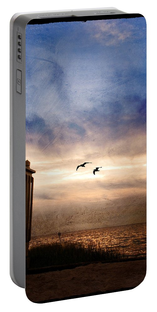 Beach Portable Battery Charger featuring the photograph Calm by Beverly Stapleton