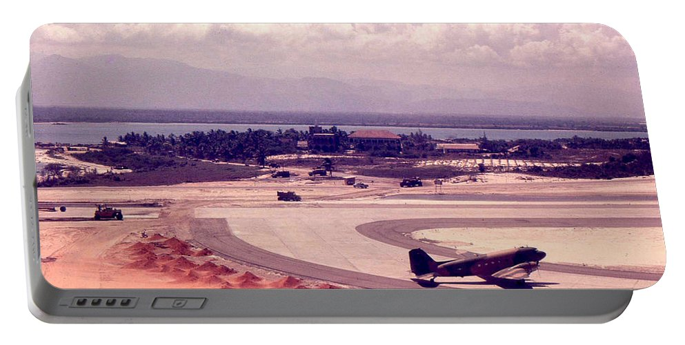 Cam Rahn Bay Portable Battery Charger featuring the photograph Cam Rahn Bay Airfield by Norman Johnson