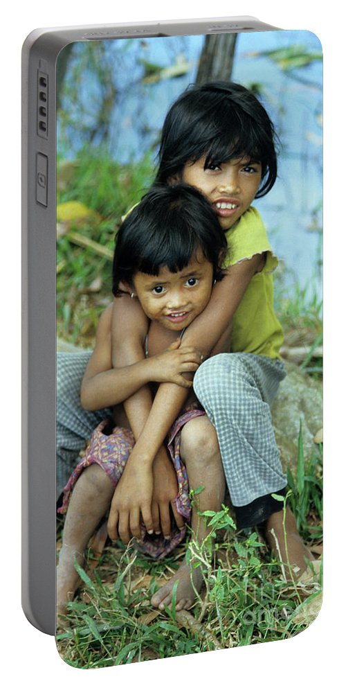 Cambodia Portable Battery Charger featuring the photograph Cambodian Children 02 by Rick Piper Photography
