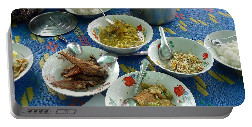 Cambodians Portable Battery Charger featuring the photograph Cambodian Life 13 by Jeff Brunton