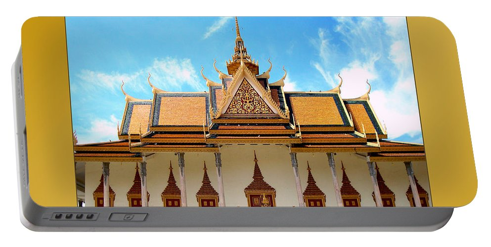 Cambodians Portable Battery Charger featuring the photograph Cambodian Temples 2 by Jeff Brunton