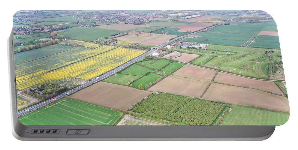 A14 Portable Battery Charger featuring the photograph Cambridgeshire by Tom Gowanlock