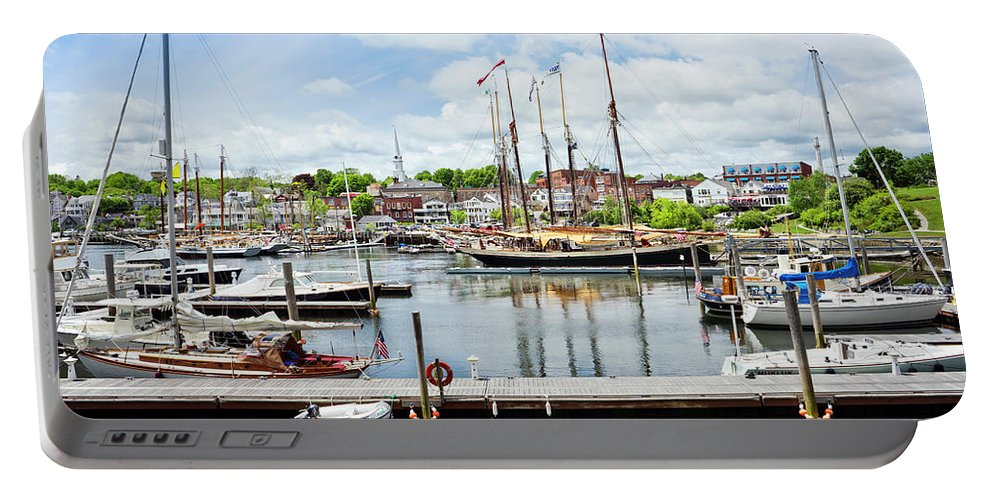 Non-urban Scene Portable Battery Charger featuring the photograph Camden Marina by Leslie Parrott