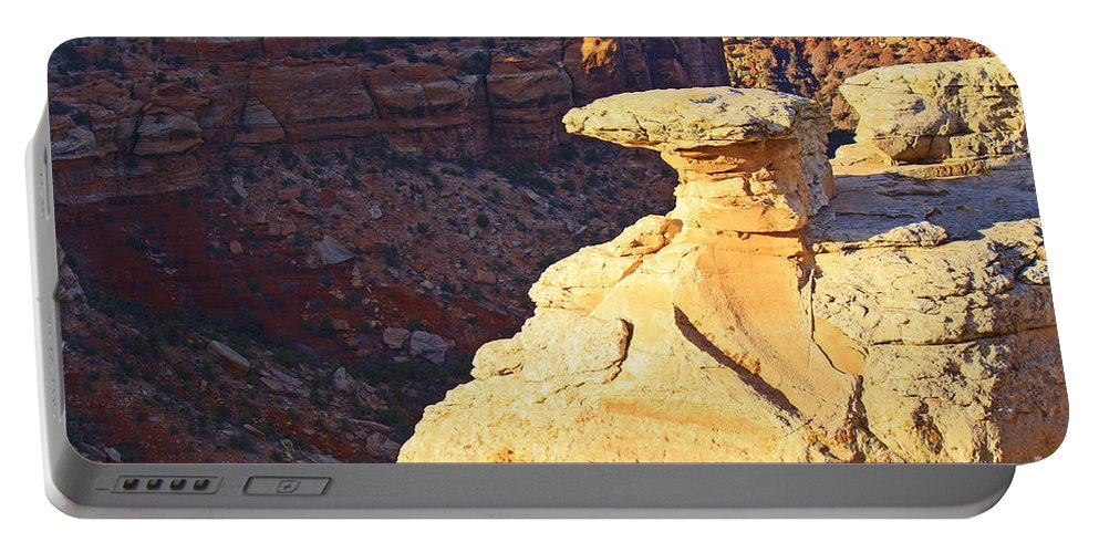 Roena King Portable Battery Charger featuring the photograph Camel Rock by Roena King