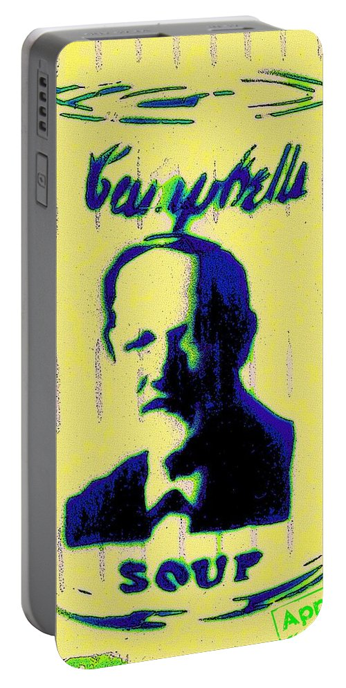 Campbell Portable Battery Charger featuring the painting Campbell's Soup Tribute by Florian Rodarte