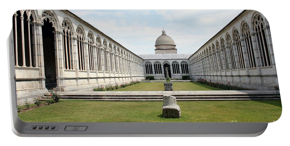Cross Coat Portable Battery Charger featuring the photograph Camposanto Cathedral Pisa by Christiane Schulze Art And Photography