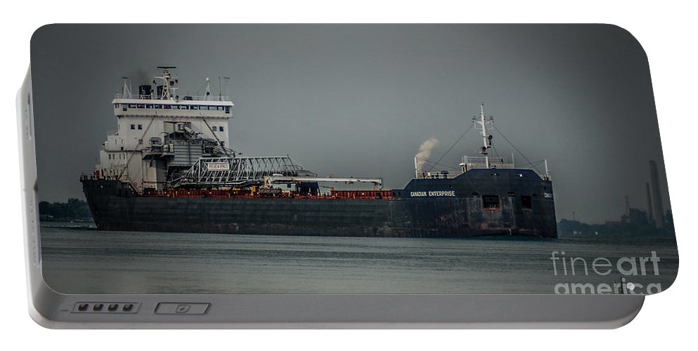 Ship Portable Battery Charger featuring the photograph Canadian Enterprise by Ronald Grogan