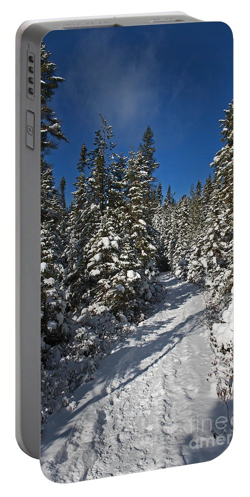 Nina Stavlund Portable Battery Charger featuring the photograph Canadian Winter Wonderland.. by Nina Stavlund