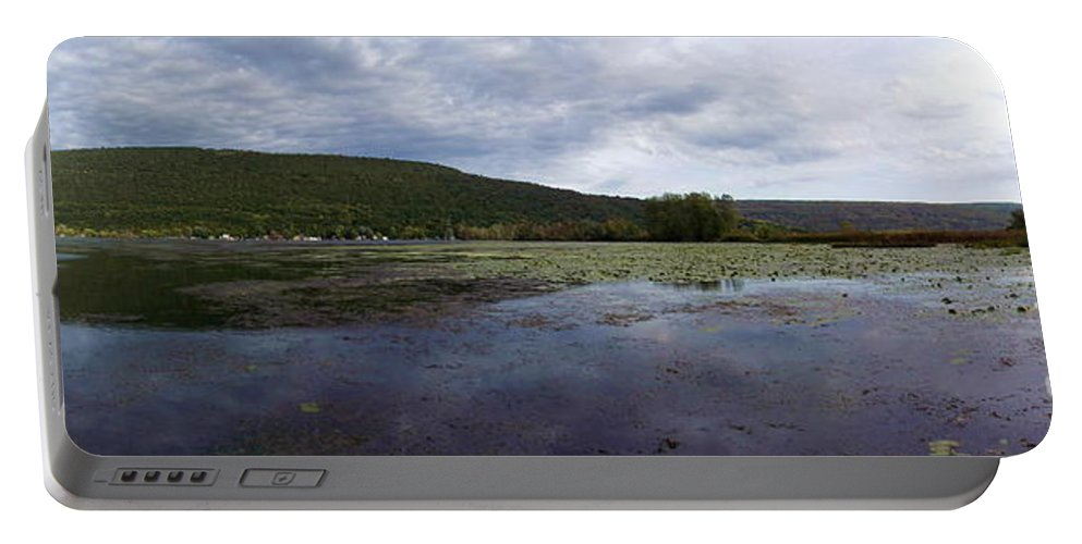 Panorama Portable Battery Charger featuring the photograph Canandaigua Lake Panorama by Rose Santuci-Sofranko