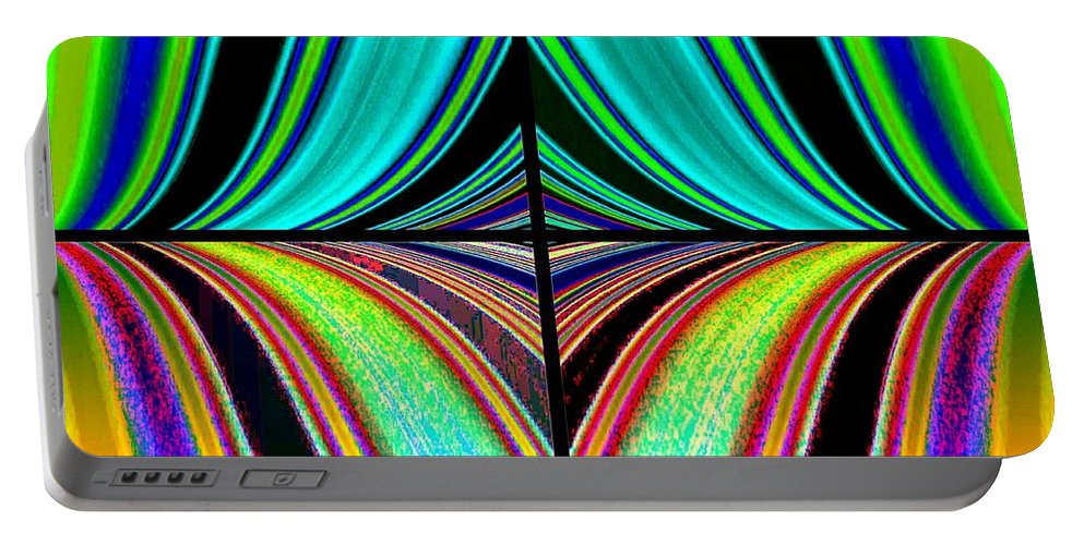 Candid Color 23 Portable Battery Charger featuring the digital art Candid Color 23 by Will Borden