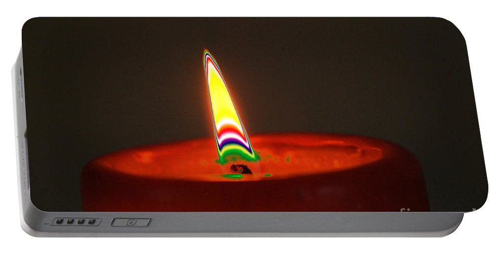 Candle Portable Battery Charger featuring the digital art Candle Light by Carol Lynch