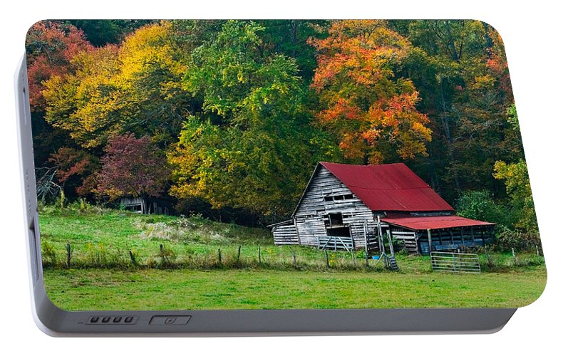 Appalachia Portable Battery Charger featuring the photograph Candy Mountain by Debra and Dave Vanderlaan