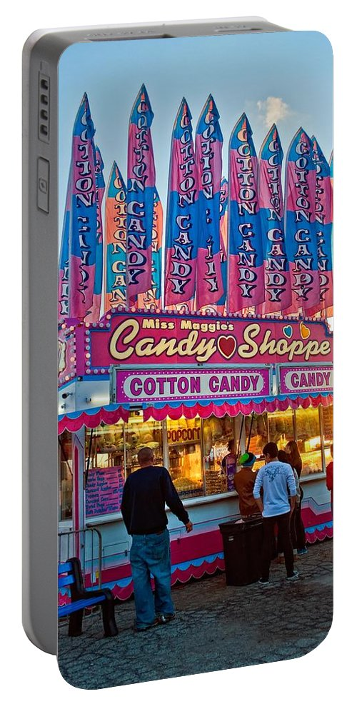 Bolton Fall Fair Portable Battery Charger featuring the photograph Candy Shoppe by Steve Harrington