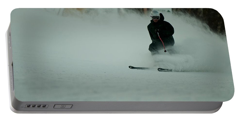 """""""nashua Sprint Y-triathlon"""" Portable Battery Charger featuring the photograph Cannon Run 1c by Paul Mangold"""