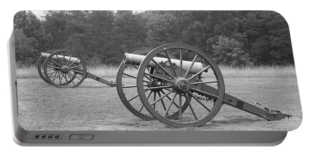 Cannon Portable Battery Charger featuring the photograph Cannons On Manassas Battlefield by Christiane Schulze Art And Photography