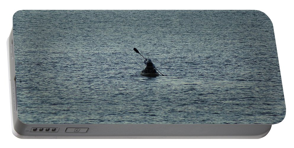 Sunrise Portable Battery Charger featuring the photograph Canoeing In The Florida Riviera by Rafael Salazar