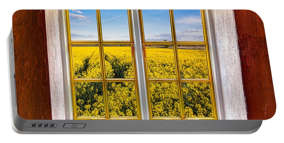Architecture Portable Battery Charger featuring the photograph Canola Canola by Semmick Photo