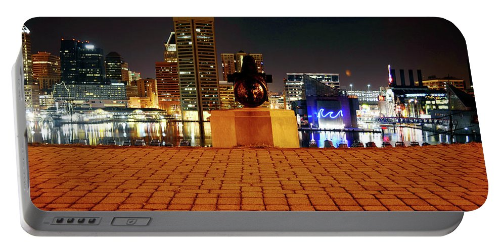 City Portable Battery Charger featuring the photograph Canon View Of The City by La Dolce Vita