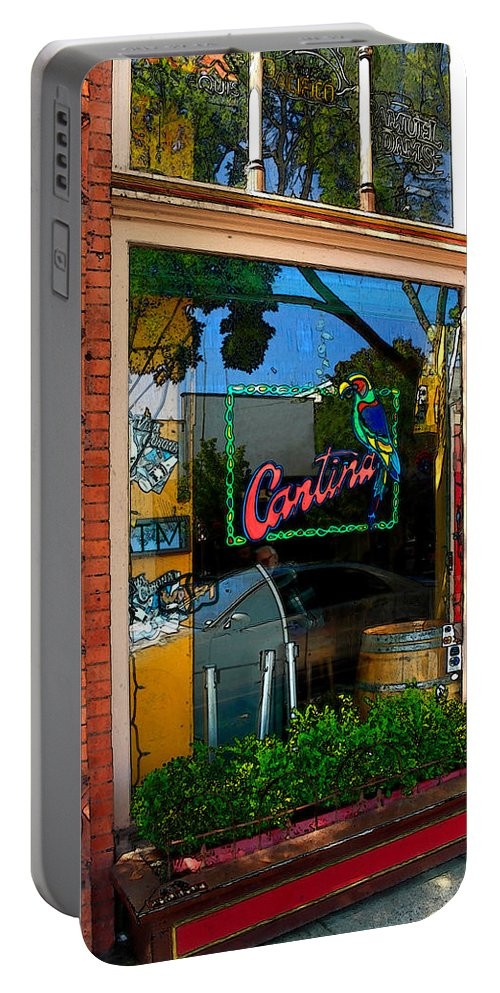 Cantina Portable Battery Charger featuring the photograph Cantina by James Eddy