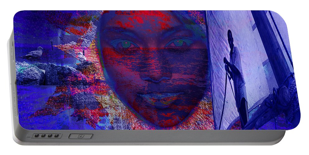Sailing Portable Battery Charger featuring the digital art Solar Miracles by Joseph Mosley