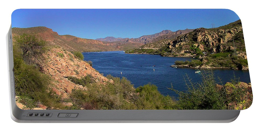 Canyon Lake Portable Battery Charger featuring the photograph Canyon Lake by Richard J Cassato