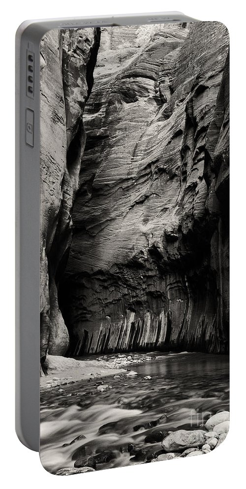 The Narrows Portable Battery Charger featuring the photograph Canyon Trail 3 by Bob Phillips