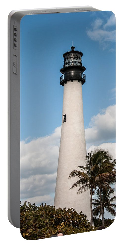 Palm Portable Battery Charger featuring the photograph Cape Florida Lighthouse by Amel Dizdarevic