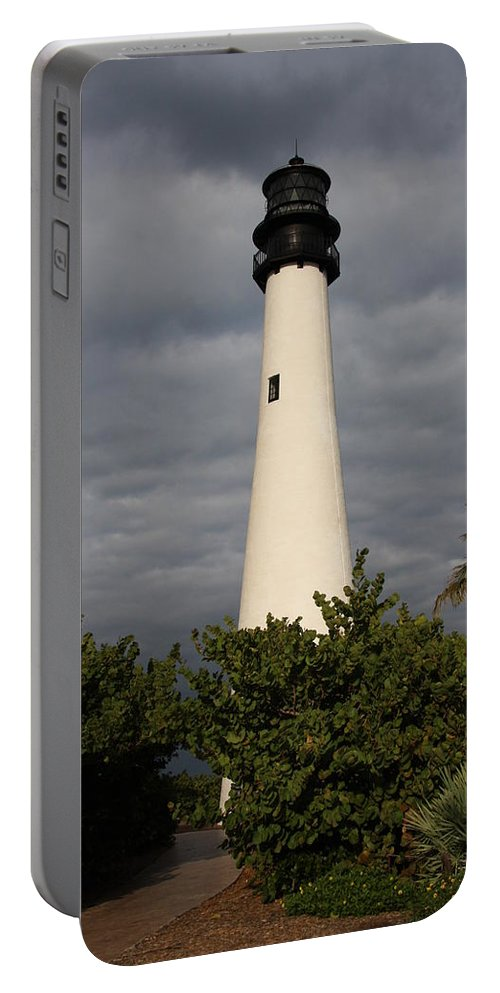 Cape Florida Portable Battery Charger featuring the photograph Cape Florida Lighthouse by Christiane Schulze Art And Photography