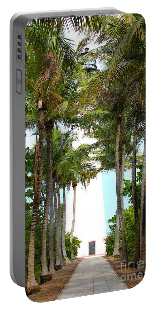Key Biscayne Portable Battery Charger featuring the photograph Cape Florida Walkway by Carey Chen