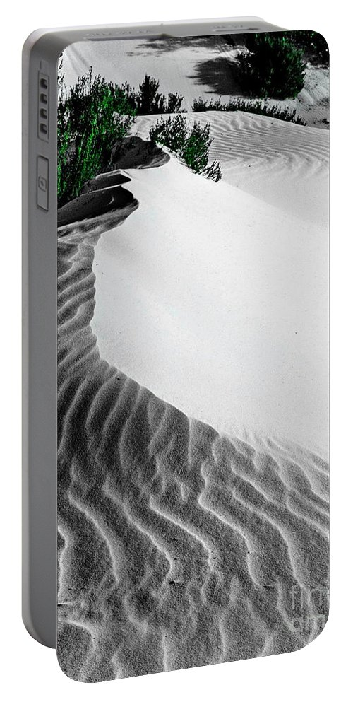 Landscape Portable Battery Charger featuring the digital art Cape Le Grande Sand Dune by Tim Richards
