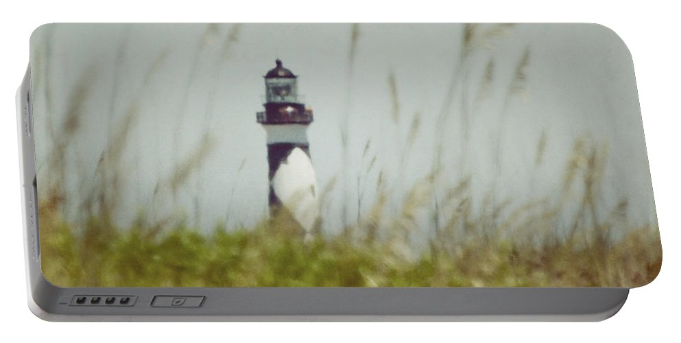 Cape Lookout Lighthouse Portable Battery Charger featuring the photograph Cape Lookout Lighthouse - Vintage by Kerri Farley