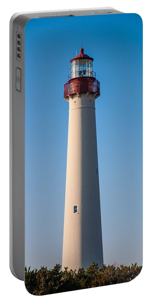 Cape May Portable Battery Charger featuring the photograph Cape May Lighthouse by Jennifer Ancker