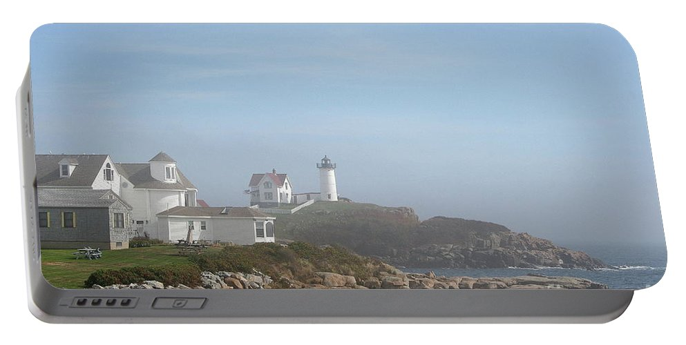 Lighthouse Portable Battery Charger featuring the photograph Cape Neddick Lighthouse IIi by Christiane Schulze Art And Photography