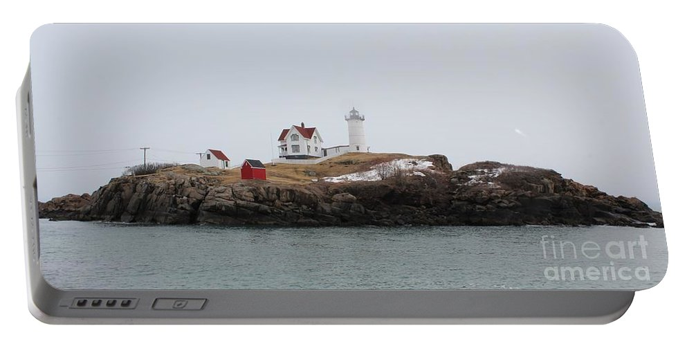 Lighthouse Portable Battery Charger featuring the photograph Cape Neddick - Nubble Light 2 by Joseph Marquis