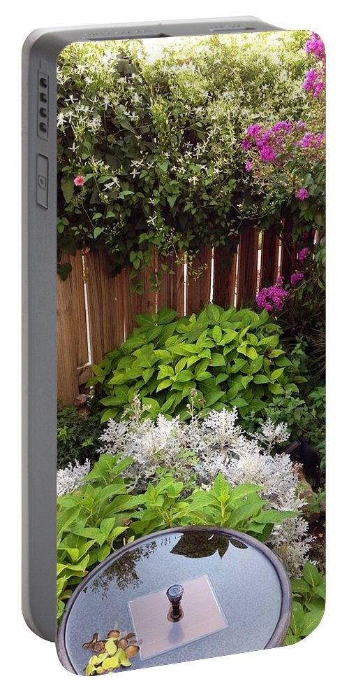 Capitol Hill Portable Battery Charger featuring the photograph Capitol Hill Patio Garden by Lois Ivancin Tavaf