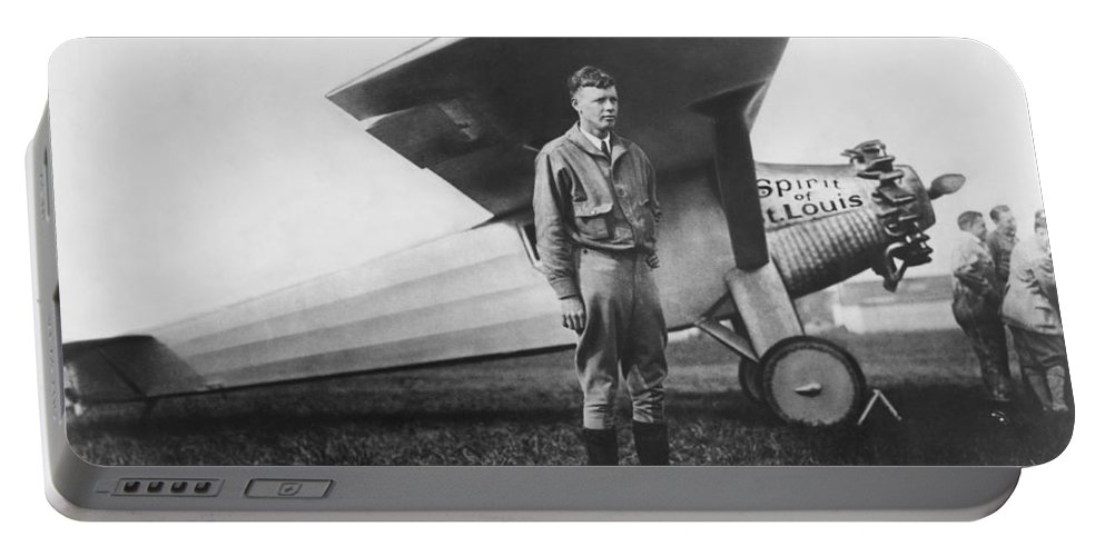 1927 Portable Battery Charger featuring the photograph Captain Charles Lindbergh by Underwood Archives