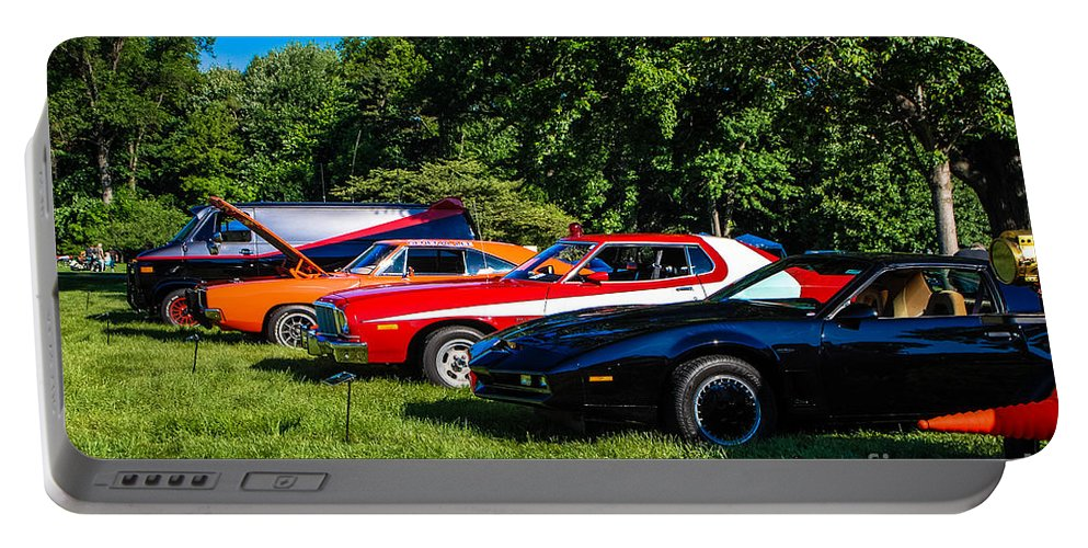 Car Show Strip Portable Battery Charger featuring the photograph Car Show Strip by Grace Grogan