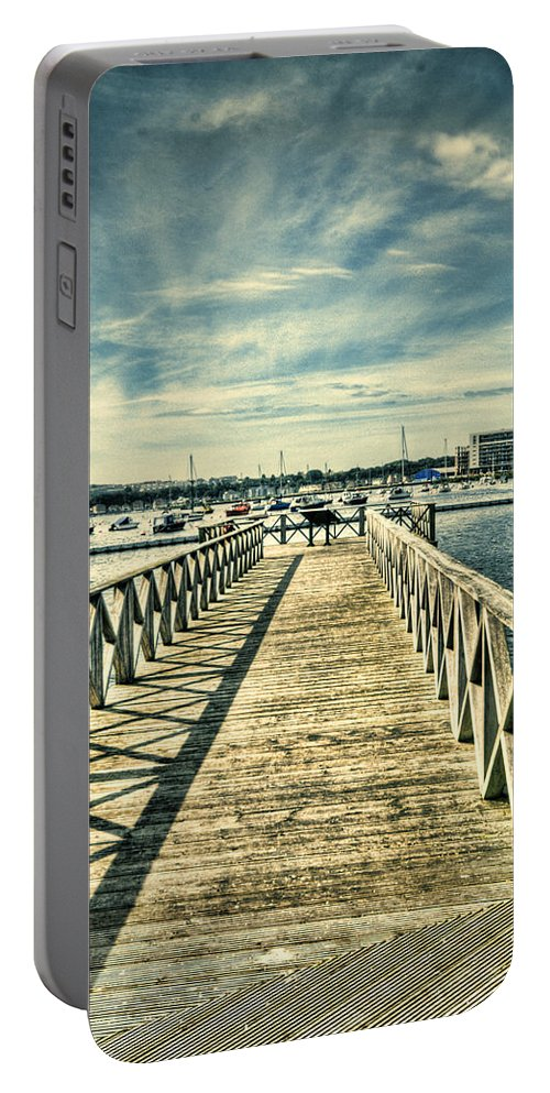 Cardiff Bay Wetlands Portable Battery Charger featuring the photograph Cardiff Bay Wetlands 2 by Steve Purnell