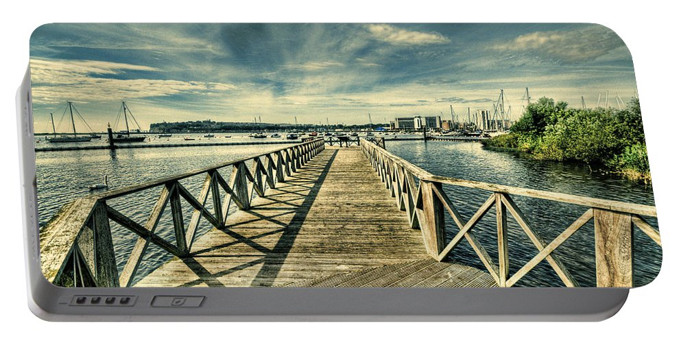 Cardiff Bay Wetlands Portable Battery Charger featuring the photograph Cardiff Bay Wetlands by Steve Purnell