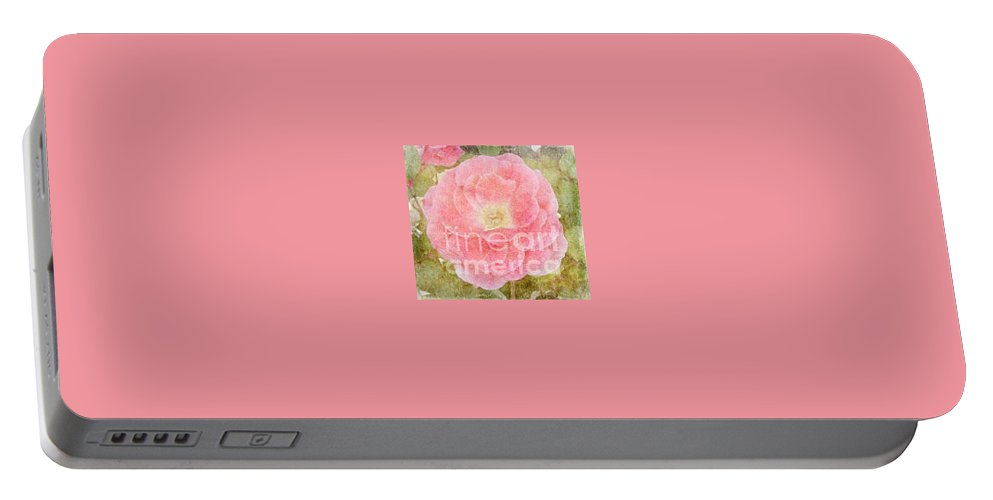 Roses Portable Battery Charger featuring the photograph Carefree Morning by Alys Caviness-Gober