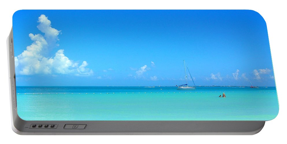 Cancun Portable Battery Charger featuring the photograph Caribbean Sailboat by Susan Vincil