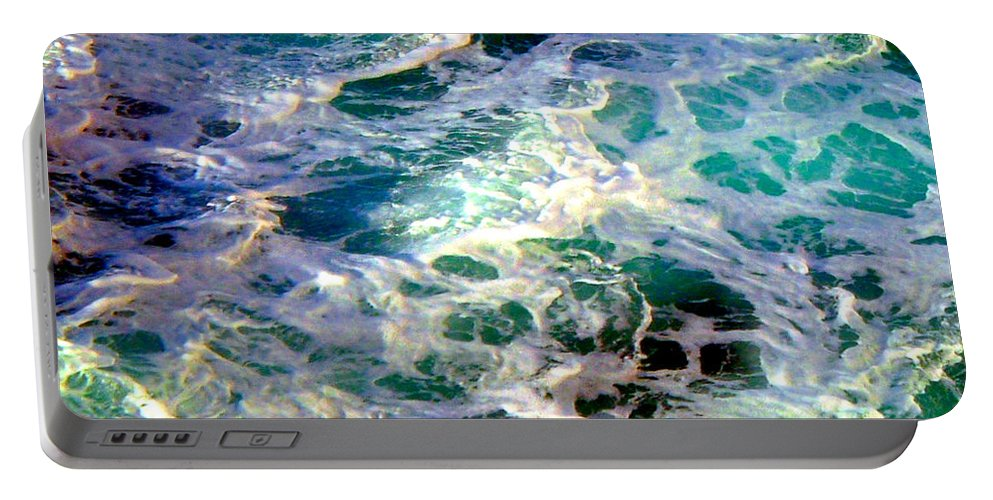 Caribbean Waters Portable Battery Charger featuring the photograph Caribbean Waters by Anita Lewis
